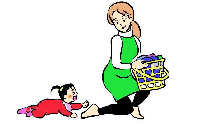 赤ちゃんの後追い