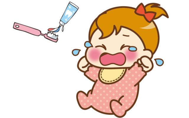 1歳の子が歯磨きでギャン泣き、暴れる!嫌がるのを何とかする方法は?