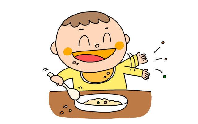 赤ちゃんの遊び食べにイライラ