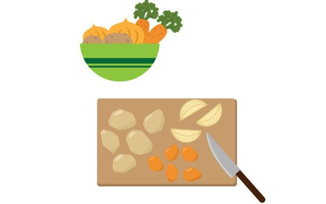 カレーライスの野菜の切り方・炒める順番が知りたい!