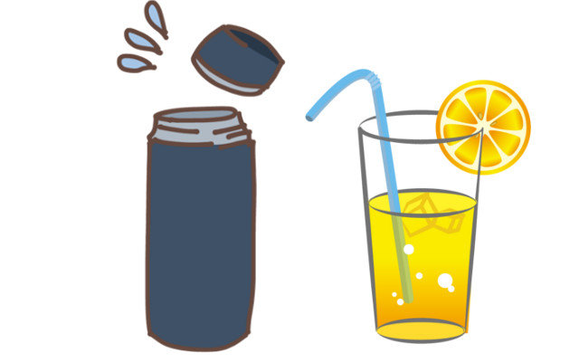 レモン水を金属の水筒に入れたら変な味に!これはなぜ?