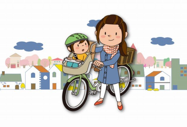 赤ちゃんを自転車の前かごや後ろかごに乗せて良いのはいつから?