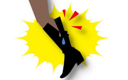 ブーツの履き口で足が痛い! 対策方法を教えて!