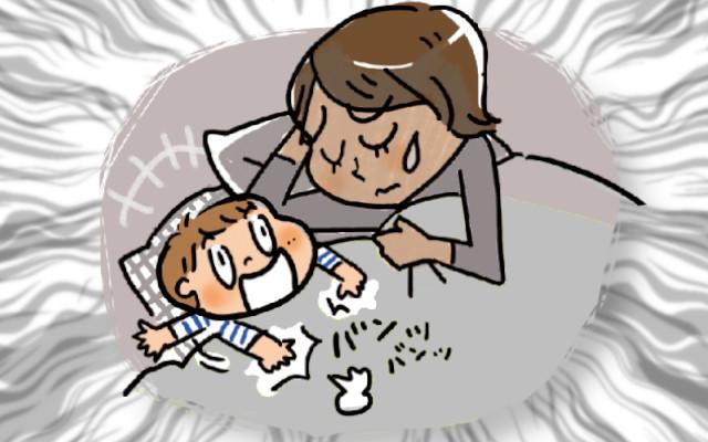 赤ちゃんが寝つくまで暴れて疲れる!対策はあるの?